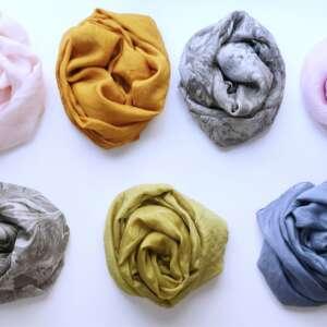 pañuelos diseño marmoleado